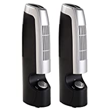 Goplus 2 PCS Mini Ionic Whisper Home Air Purifier & Ionizer Pro Filter 2 Speed