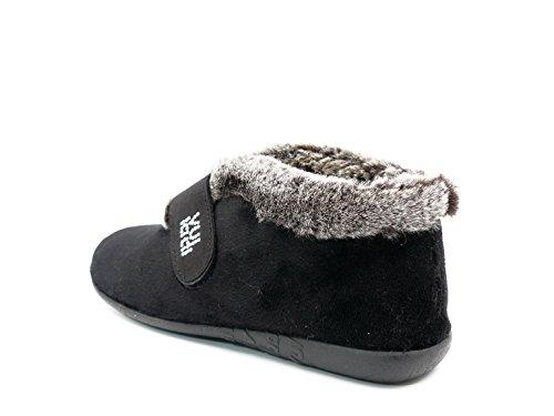 16 Tipo Alaska Negro Vul Velcro Color Tejido Invierno Bota ladi Mujer 3216 Cierre Negro En Marca Zapatilla Casa De fwxp1Tq