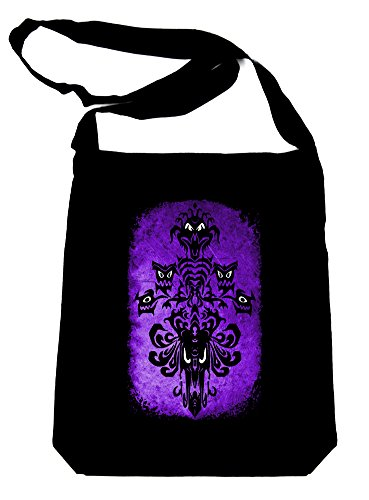 Haunted Mansion Wallpaper Sling Bag Tote Halloween Alternative Clothing Book Bag ()