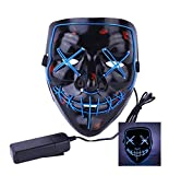 Halloween Mask LED for Festival Cosplay Costume and Party Decoration – Light up Your Life (Blue)