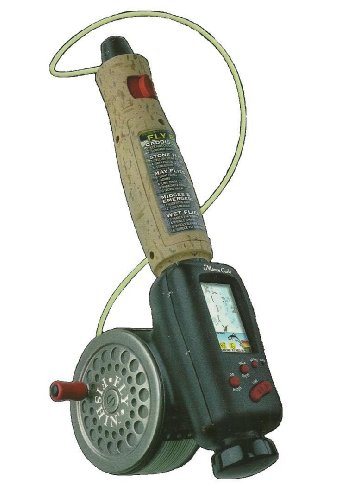 FLY FISHIN' Electronic Game Battery operated with lights and noises. Great fly fishin' practice. In original retail box. 1998 Fly Fishin' Monte Carlo by Radica. #9903 GB. Ages 8 and Up. by Radica
