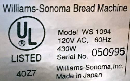 Pala para amasar compatible con Williams Sonoma #WS1094 Grande ...