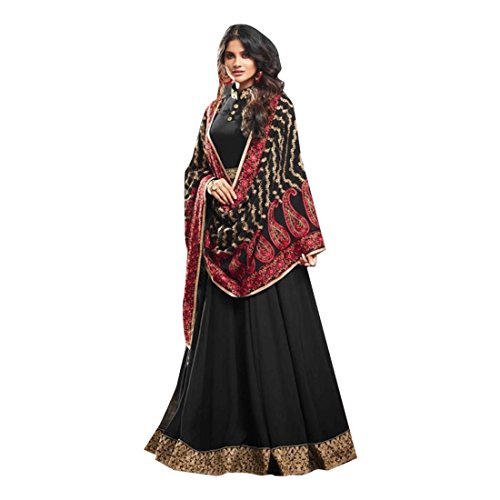 pakistano signore hijab kamiz usura kameez kafaan donna lungo top punjabi ragazza Black anarkali designer shalwar nozze salwar vestito musulmano choli 2803 partito q8ZgU4nwU