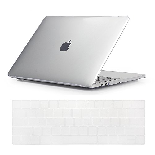 - Se7enline MacBook Pro Case 2016 2017 2018 Smooth Soft-Touch Crystal Plastic Hard Cover for MacBook Pro 13 inch A1706/A1708/A1989 with/without Touch Bar Touch ID with Keyboard Cover, Transparent/Clear