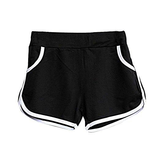 Sport Pants Hot nuova Estate Donna Amlaiworld Nero Shorts ZzHqfUZXW