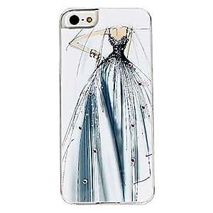 HP- Caso duro del patrón de vestido de novia para el iphone 5/5s