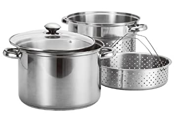 Amazon Stainless Steel 4 Pcs Pasta Cooker Set