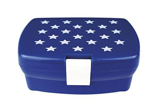 hübsche blaue Brotdose mit weißen Sternen von Kids Concept aus Schweden