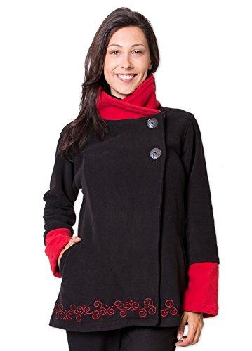 Coton Du Monde - Veste Polaire CASAMANCE Noir Multicolore