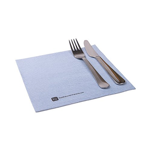 Paper Napkins, Dinner Napkins - Blue Denim - Soft & Durable - 16