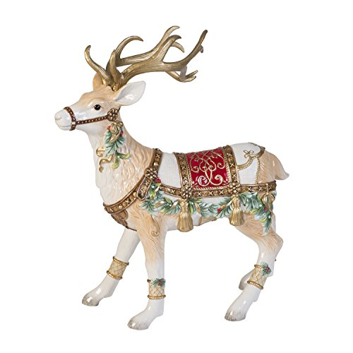 Fitz and Floyd Yuletide Holiday Collection, Reindeer Figurine