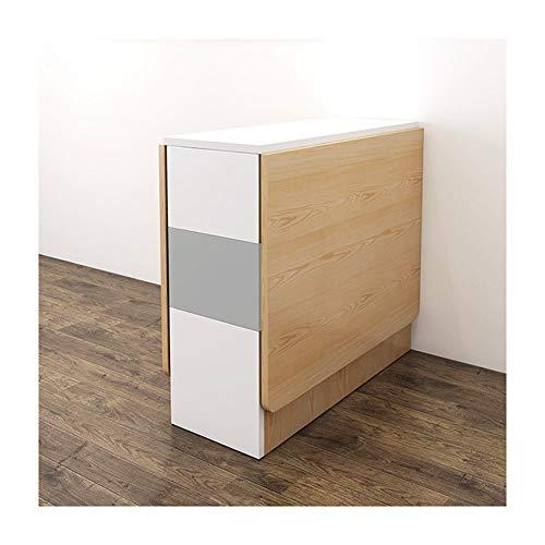 Mesa Plegable con Ruedas Estante, Multifuncional Rectangular Mesa De Comedor, Gran Capacidad, Moderno Mesa para Cama o Sofa (Size : 1 Table 4 Chairs)
