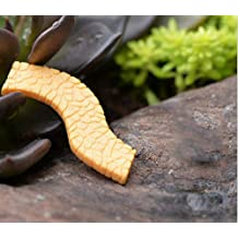 Large Curved Path Walkway Moss Micro Landscape DIY Garden Craft Ornament Decoration for Indoor and Outdoor(1.5x0.43in)(Yellow)