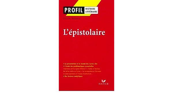 Profil - Lépistolaire (Profil Histoire Littéraire) (French Edition)