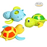 Baby Bath Toy, Dmeixs Wind Up Toys, Bathtub Turtle Toys for Toddlers, floating Toys BPA free, Eco-friendly Material, 3 Pack