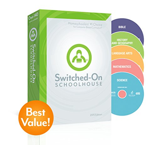 2015 Switched on Schoolhouse, Grade 5, AOP 5-Subject Set - Math, Language, Science, History / Geography & Bible (Alpha Omega HomeSchooling), SOS 5TH GRADE CD-ROM Curriculum, Complete Set by ALPHA OMEGA PUBLICATIONS