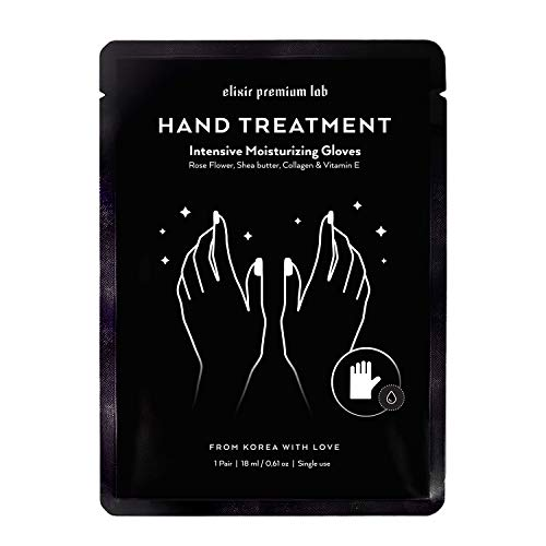 Hydrating Kit (Moisturizing Gloves - Best Hydrating Hand & Nail Mask - Collagen Spa Treatment with Shea Butter - Moisturizer Hands Mask for Women & Men - Spa Kit Repairs Dry Hands - Touchscreen Material (1 Pack))