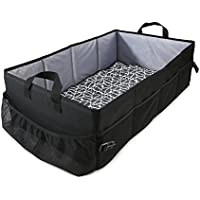 Reste Kids & Baby Travel Bed - Sized for Infant Kids - Youth Travel Size Bed is Foldable and Portable and Includes Carrying Bag, Black and Grey