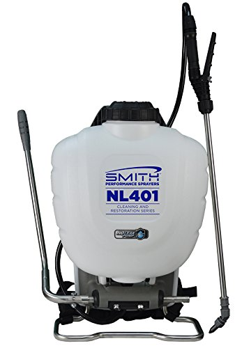 Smith Performance Sprayers NL401 No-Leak Backpack Sprayer for Cleaning and Mold Removal, 4 gallon
