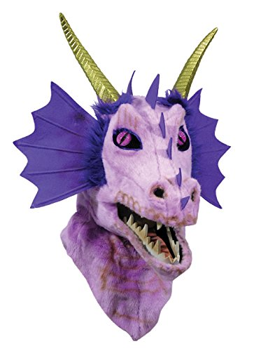 Forum Novelties Unisex-Adult's Moving Jaw Masks-Purple Dragon, Multi, Standard -