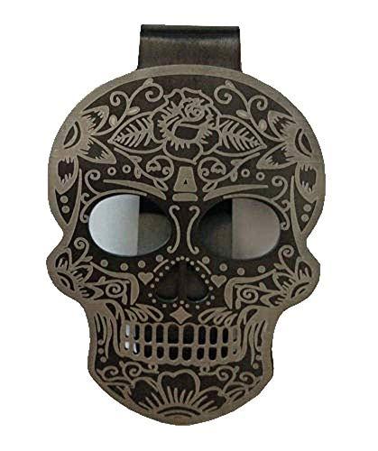 (Scario Tattoo Black Matte Skull Money Clip)