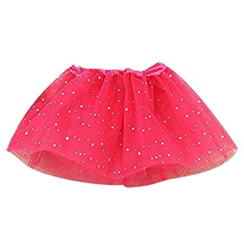 410b0da91 Amazon.com  Baby Kids Girls Princess Stars Sequins Party Dance ...