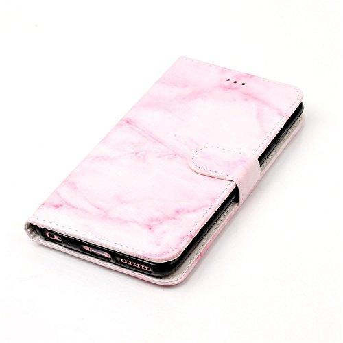 para iPhone 6 Plus / 6s Plus PU Cuero Funda, Vandot 3D Bling Rhinestones Mariposa Shell TPU Inner Bumper Case Funda con Billetera Tapa Holster Cierre Magnético Tarjeta Ranura Carcasa Teléfono Concha B DLS -4