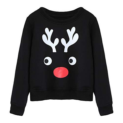 Seaintheson Matching Family Christmas Pajamas Tops, Xmas Reindeer