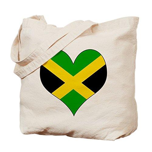 CafePress–I love JAMAIKA–Leinwand Natur Tasche, Reinigungstuch Einkaufstasche, canvas, khaki, S