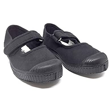 Ten.Ten Unisex Velcro Casual Shoes - Black