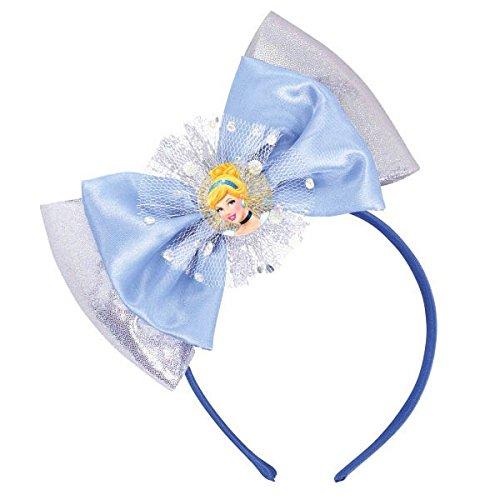 Disney Cinderella Deluxe Headband (Cinderella Deluxe Blue Disney Princess Headband Birthday Party Accessory Favour (1 Piece), Blue, 6 1/2