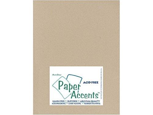 accent design paper accents adp8511–25.304no 808.5' x 11' de papel Kraft reciclado cartulina