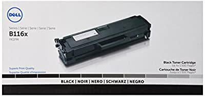 Dell Computer YK1PM Black Toner Cartridge B1160/B1160w/B1163w/B1165nfw Laser Printer