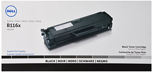 Dell YK1PM 1 500 Pages Black Toner Cartridge for B1165nfw Laser Printer by Dell