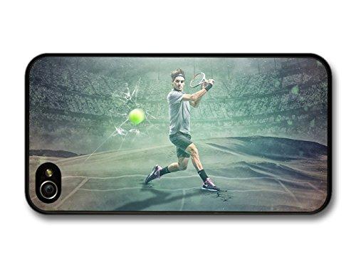 Roger Federer Green Stadium Tennis Player hülle für iPhone 4 4S