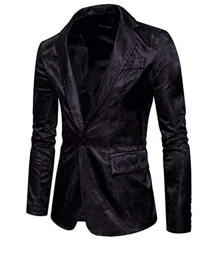 Giacche Blazer Con Suit Schwarz Uomo Da 1 Abbigliamento Adelina Giacca Casual Disegno Bottone Business Sportiva Slim Fit BdeoWQrCxE