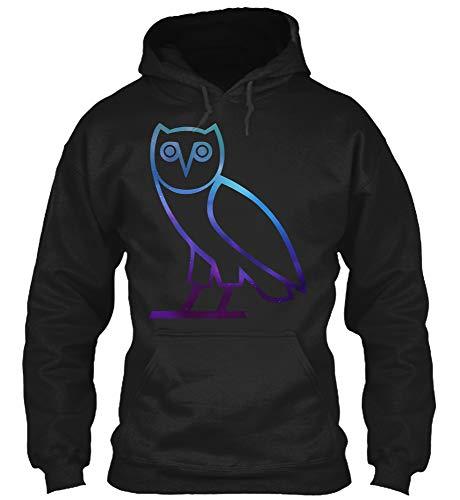 OVO Owl T-Shirt (Gildan 8oz Heavy Blend Hoodie;Black;M)