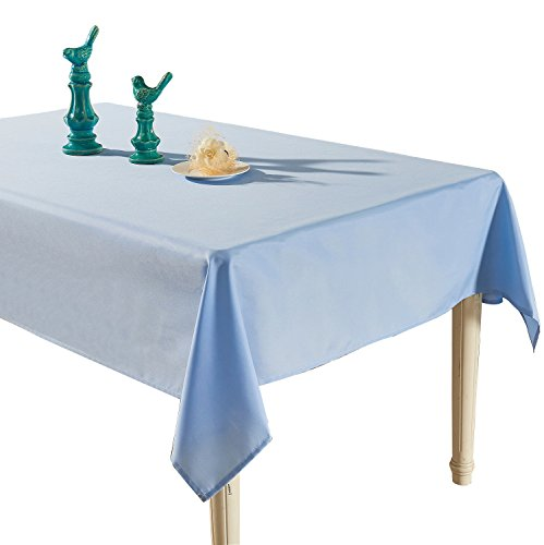 light blue tablecloth - 8