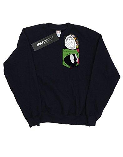 De Mujer Entrenamiento Face Tunes Martian Faux The Pocket Looney Camisa Negro Marvin CZ7zn5qwp