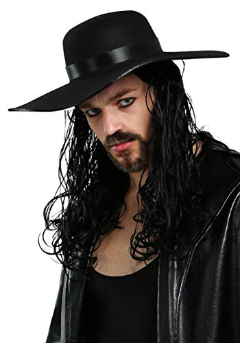Fun Costumes Mens WWE Undertaker Licensed Wig Standard Black -