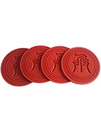 Acquisition 100 Goods Silicone Chinese Chess Xiangqi in Qin Script All-weather Drink Coasters , 90x90x3mm, Set of 4 Soldiers... opportunity