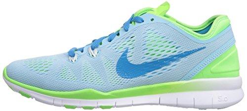 Nike Free 5.0 TR Fit 5 Damen Cross Trainingsschuhe Stll Blau / Bl Lagoon-flsh Limonenweiß