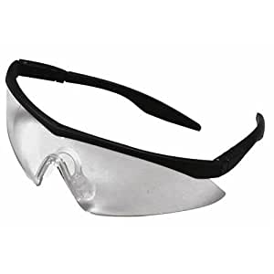 Straight Temple Glasses Frame : Amazon.com : Straight Temple Safety Glasses, Black Frame ...