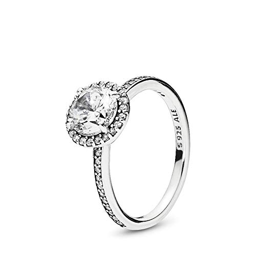 PANDORA Classic Elegance Ring, Sterling Silver, Clear Cubic Zirconia, Size 7