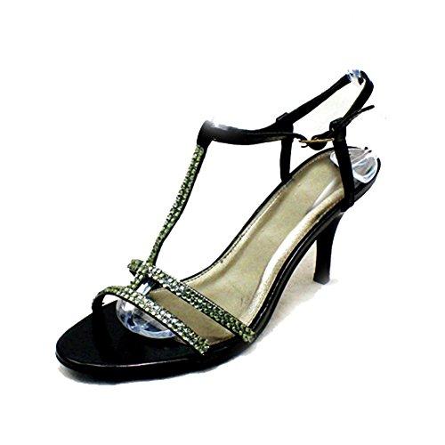 Schwarz mit Noppen t-bar Medium Ferse Partei / Abschlussball-Schuhe