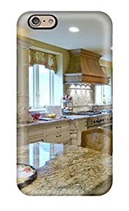 KGNxuQt958hVPZA Faddish Traditional Kitchen With Pantry And Marble Countertops Case Cover For Iphone 6(3D PC Soft Case)
