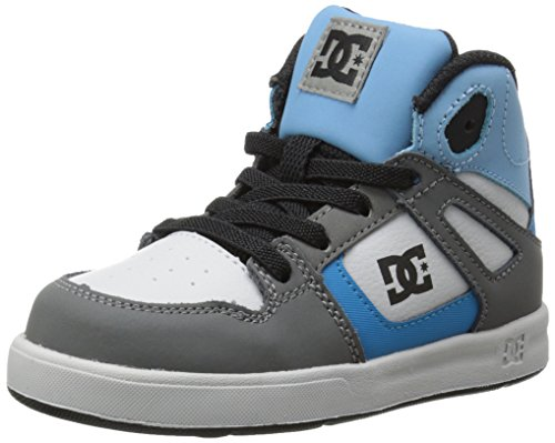 DC Rebound UL Skate Shoe (Toddler),Grey/Grey/Blue,9 M US Toddler