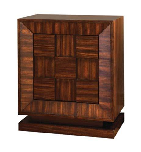 Heirloom Adjustable Shelf Cabinet - Global Views Mid Century Modern Wood Cube Accent Cabinet   Chest Zebra Wood Stripe Square