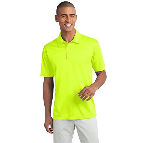 Neon Silk - Mens Big & Tall Short Sleeve Moisture Wicking Silk Touch Polo Shirt, 2XLT, Neon Yellow