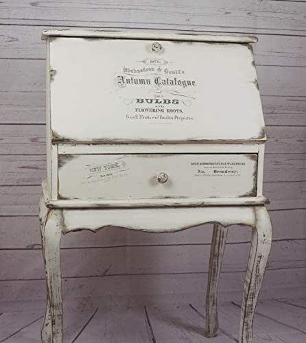 Mueble Recibidor Vintage Retro Blanco, Gris y toques malva